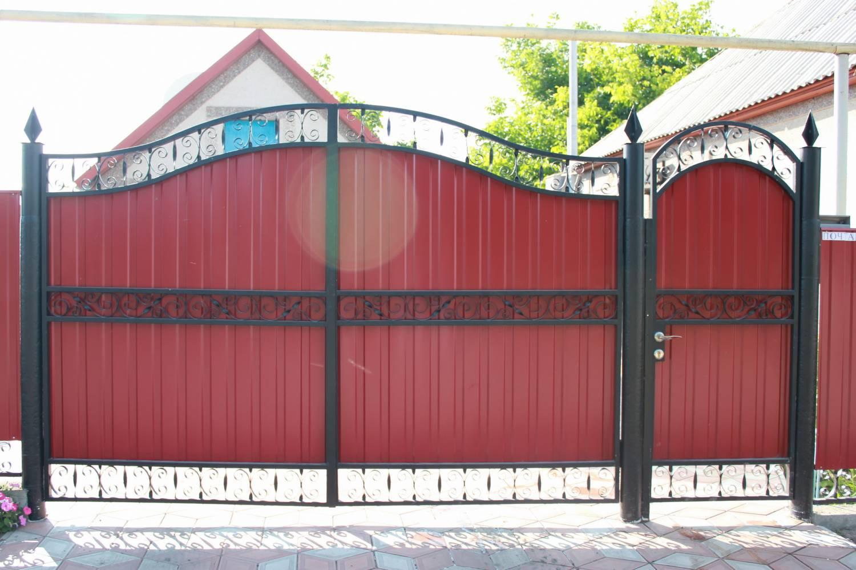 Ворота из профлиста своими руками фото